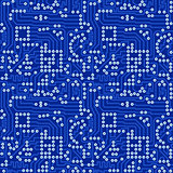 Blue electronic circuit board with gray solder vector seamless p