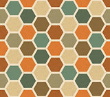 Hexagonal vintage vector seamless pattern