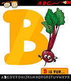 letter b with beet cartoon illustration