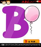 letter b with balloon cartoon illustration