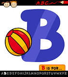 letter b with ball cartoon illustration