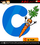 letter c with carrot cartoon illustration