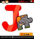letter j with jigsaw cartoon illustration