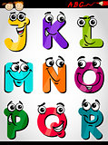 cute letters alphabet cartoon illustration