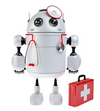 Medical robot robot with the first aid kit