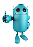 Blue Robot giving thumbs up.