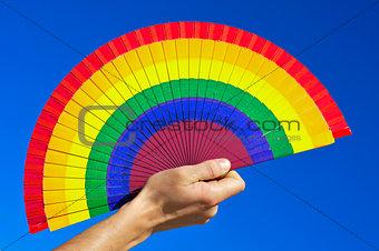 gay hand fan