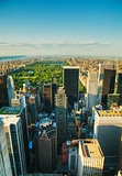 New York City cityscape with the Central Park