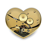 Metal steampunk heart