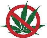stop cannabis leaf