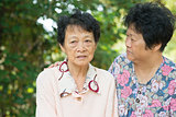 Asian senior women lifestyle