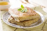 Mutabbaq or Murtabak is a stuffed Arabic bread