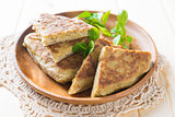 Stuffed pancake or pan-fried bread murtabak