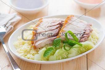 Siu Yuk rice