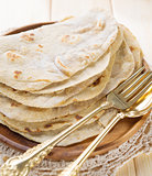 India vegetarian food plain chapatti roti