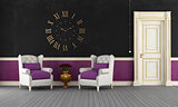 Black and purple vintage room