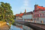 Wroclaw. Odra river embankment