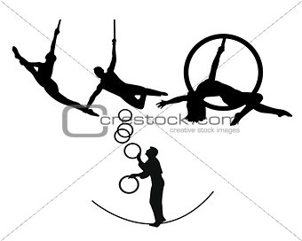 circus trapeze artists