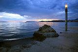 Sea sunset over Split, Croatia