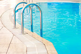 steps in a water pool