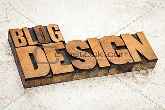 blog design in wood type