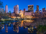 New York City Central Park South Skyline
