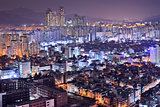 Seoul Gangnam District Skyline