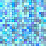 mosaic backdrop in multiple blue
