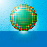 ball with the texture of fabric and a reflection on the surface