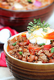 Chili Con Carne with Sour Cream
