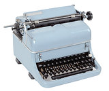 retro typewriter on white background