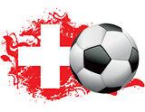 Switzerland Soccer Grunge Design