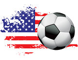 United States Soccer Grunge Design