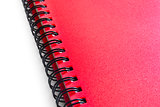 Red Spiral Notebook Isolated on the White Background