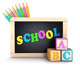 3d school concept