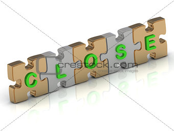 CLOSE word of gold puzzle