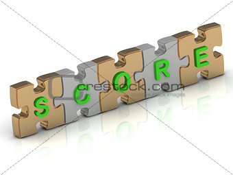SCORE word of gold puzzle