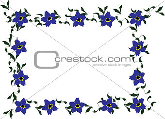 Forget-me-not Floral Border