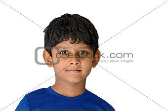 Asian Indian Boy of 6 years age smiling