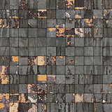 grunge tile mosaic wall floor gray orange