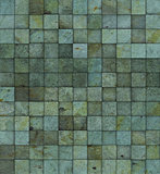 grunge tile mosaic wall floor blue green