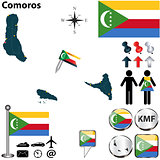 Map of Comoros