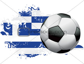 Greece Soccer Grunge Design