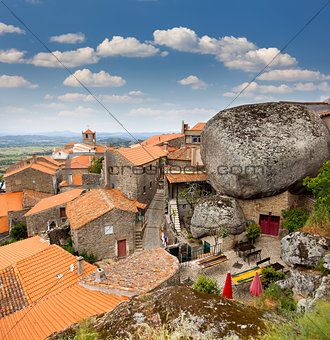 Monsanto village with the bell tower /  Portugal / Europe