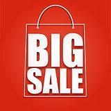 Big sale poster,  vector illustration