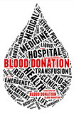 Blood donation pictogram with black wordings