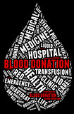 Blood donation pictogram with white wordings