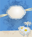 Vintage blue vector background