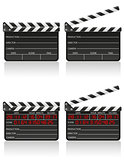 clapper board vector illustration