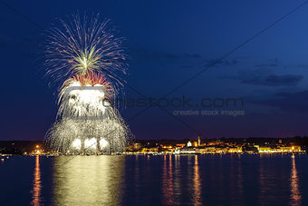 Fireworks on the Lake Maggiore, Arona